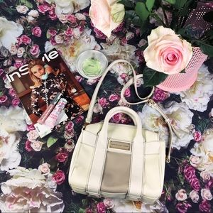 Marc Jacobs Taupe and Cream Leather Crossbody